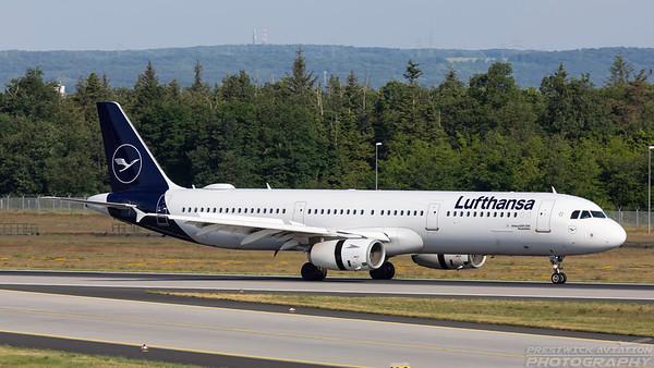 D-AISP. Airbus A321-231. Lufthansa. Frankfurt. 210518.