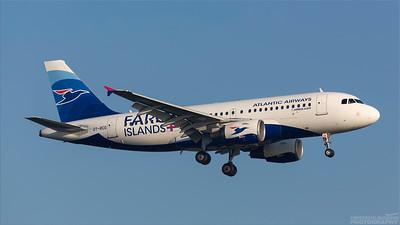 OY-RCG. Airbus A319-115. Atlantic Airways. Heathrow. 101018.