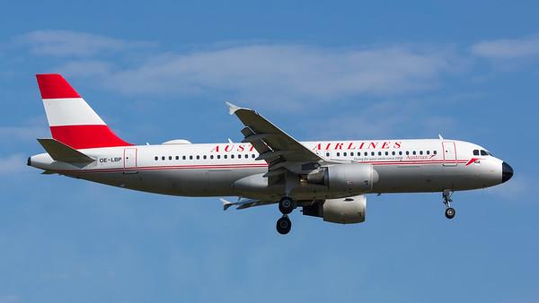OE-LBP. Airbus A320-214. Austrian Airlines. Frankfurt. 210518.