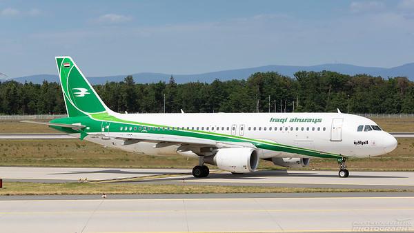 YI-ARD. Airbus A320-214. Iraqi Airways. Frankfurt. 210518.