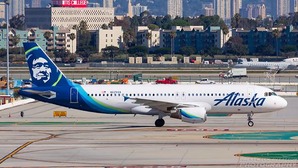 N625VA. Airbus A320-214. Alaska Airlines. Los Angeles. 260318.
