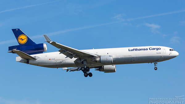 D-ALCE. McDonnell Douglas MD-11F. Lufhansa Cargo. Frankfurt. 210518.