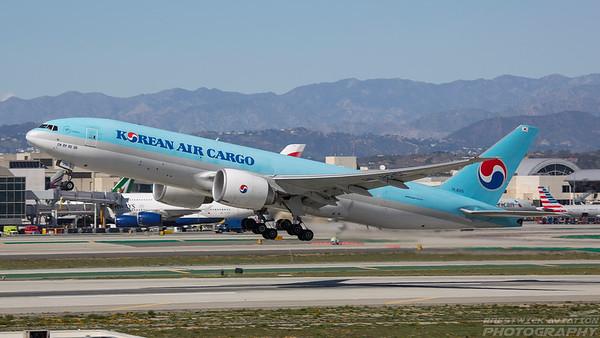 HL8251. Boeing 777-FB5. Korean Air Cargo. Los Angeles. 260318.