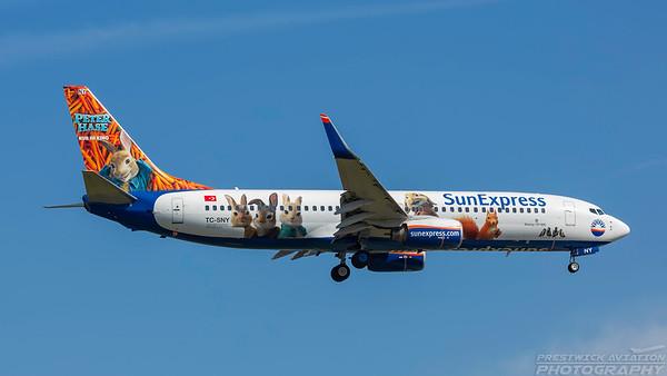 TC-SNY. Boeing 737-8K5. Sun Express. Frankfurt. 210518.