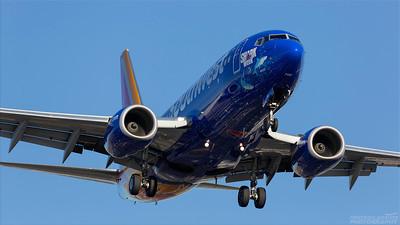 N961WN. Boeing 737-7H4. Southwest. Los Angeles. 170918.