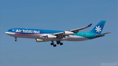 F-OSEA. Airbus A340-313E. Air Tahiti Nui. Los Angeles. 180918.