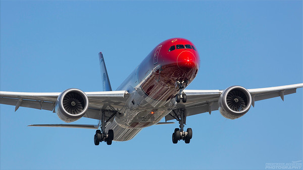 LN-LNR. Boeing 787-9 Dreamliner. Norwegian. Los Angeles. 170918.