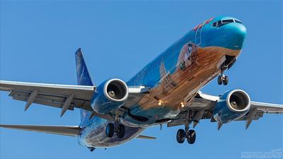 C-GWSV. Boeing 737-8CT. Westjet. Los Angeles. 170918.