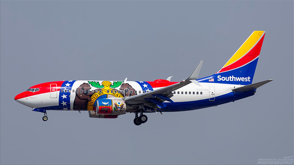 N280WN. Boeing 737-7H4. Southwest. Los Angeles. 180918.