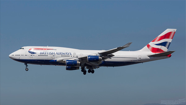 G-CIVG. Boeing 747-436. British Airways. Los Angeles. 180918.