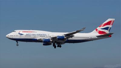 G-CIVG. Boeing 747-436. British Airways. Los Angeles. 180918.