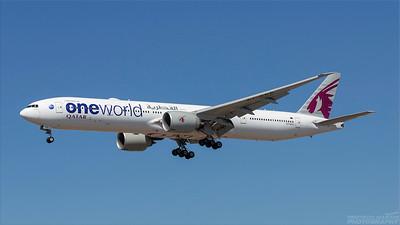 A7-BAA. Boeing 777-3DZ(ER). Qatar Airways. Los Angeles. 240918.