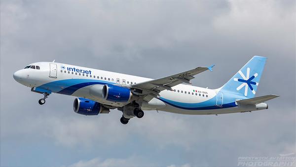 XA-DOS. Airbus A320-214. Interjet. Los Angeles. 240318.
