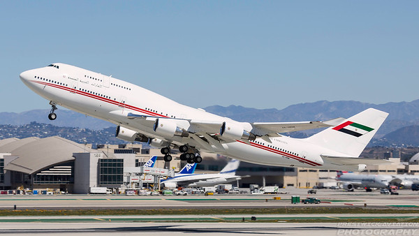 A6-HRM. Boeing 747-422. Dubai Air Wing. Los Angeles. 270318.