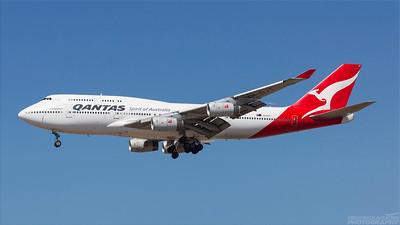 VH-OJT. Boeing 747-438. Qantas. Los Angeles. 240918.