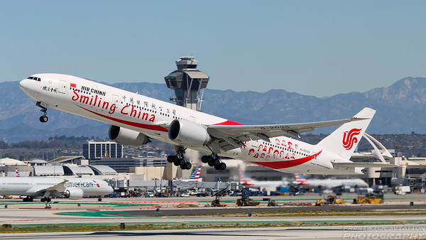 B-2035. Boeing 777-39L/ER. Air China. Los Angeles. 270318.