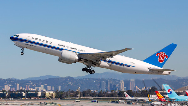 B-2027. Boeing 777-F1B. China Southern Cargo. Los Angeles. 260318.