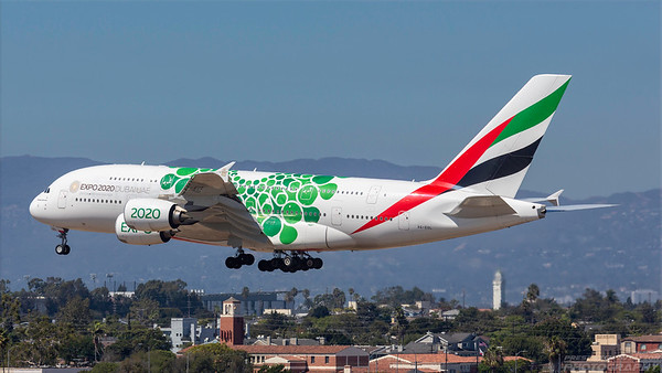 A6-EOL. Airbus A380-861. Emirates. Los Angeles. 180918.