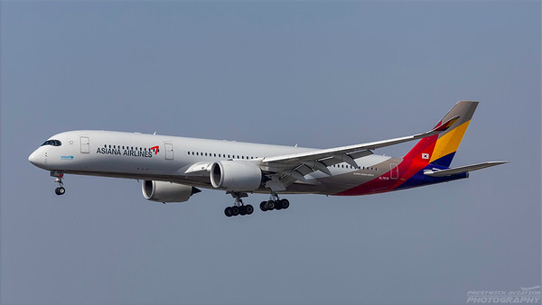 HL7578. Airbus A350-941. Asiana Airlines. Los Angeles. 200918.