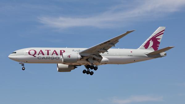 A7-BFM. Boeing 777-FDZ. Qatar Cargo. Los Angeles. 140919.
