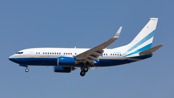 N108MS. Boeing 737-7BC. Private. Los Angeles. 140919.