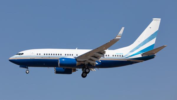 N108MS. Boeing 737-7BC. Private. Los Angeles. 140919.