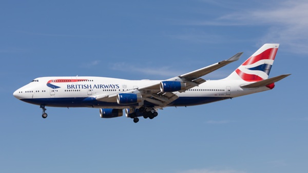 G-CIVV. Boeing 747-436. British Airways. Los Angeles. 140919.