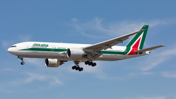 EI-ISD. Boeing 777-243(ER). Alitalia. Los Angeles. 140919.