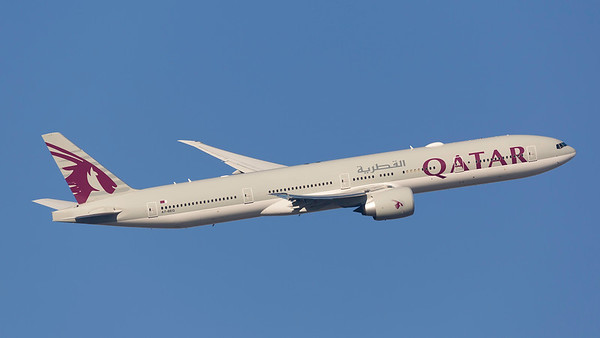A7-BEG. Boeing 777-3DZ(ER). Qatar Airways. Heathrow. 240219.