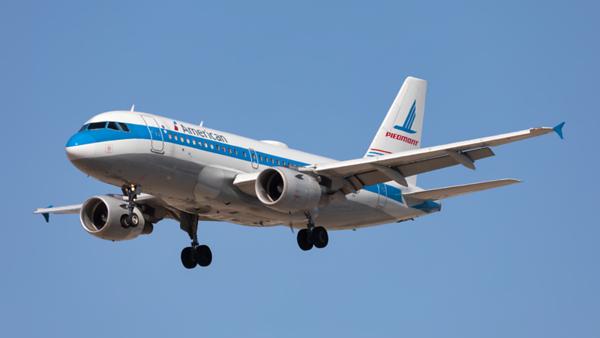 N744P. Airbus A319-112. American. Los Angeles. 180919.