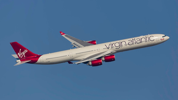 G-VWEB. Airbus A340-642. Virgin Atlantic. Heathrow. 240219.