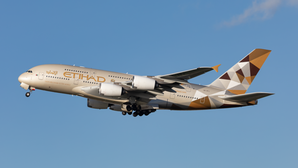 A6-APJ. Airbus A380-861. Etihad. Heathrow. 080220.