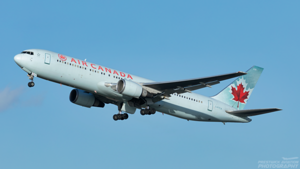 C-FTCA. Boeing 767-375(ER). Air Canada. Heathrow. 080220.
