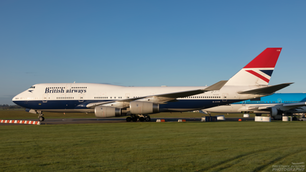 G-CIVB. Boeing 747-436. British Airways. Kemble. 111020.