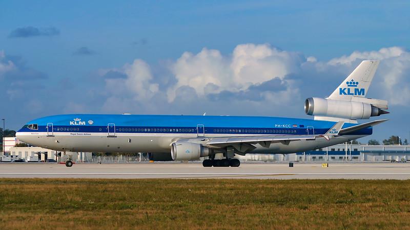 PH-KCC. McDonnell Douglas MD-11. KLM. Miami. 030304.