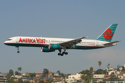 N906AW. Boeing 757-2S7. America West Airlines. San Diego. 230905.