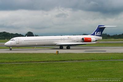 LN-ROP. McDonnell Douglas MD-82. SAS. Manchester. 170704.