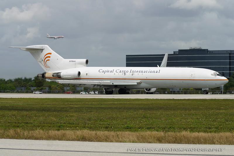 N715AA. Boeing 727-223/Adv(F). Capital Cargo International. Miami. 030304.