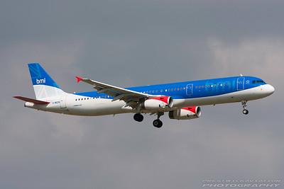 G-MEDN. Airbus A321-231. BMI. Heathrow. 300808.