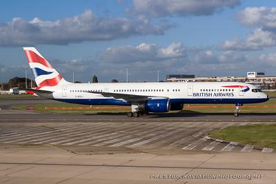 G-BPEJ. Boeing 757-236. British Airways. Heathrow. 291007.