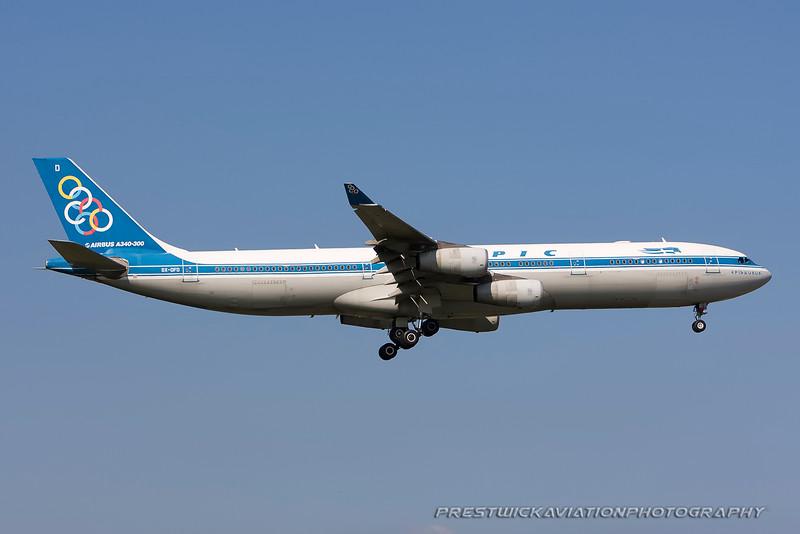SX-DFD. Airbus A340-313. Olympic Airways. Heathrow. 300808.