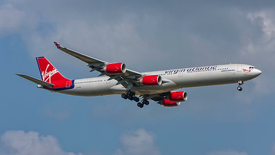 G-VGAS. Airbus A340-642. Virgin Atlantic. Heathrow. 300808.