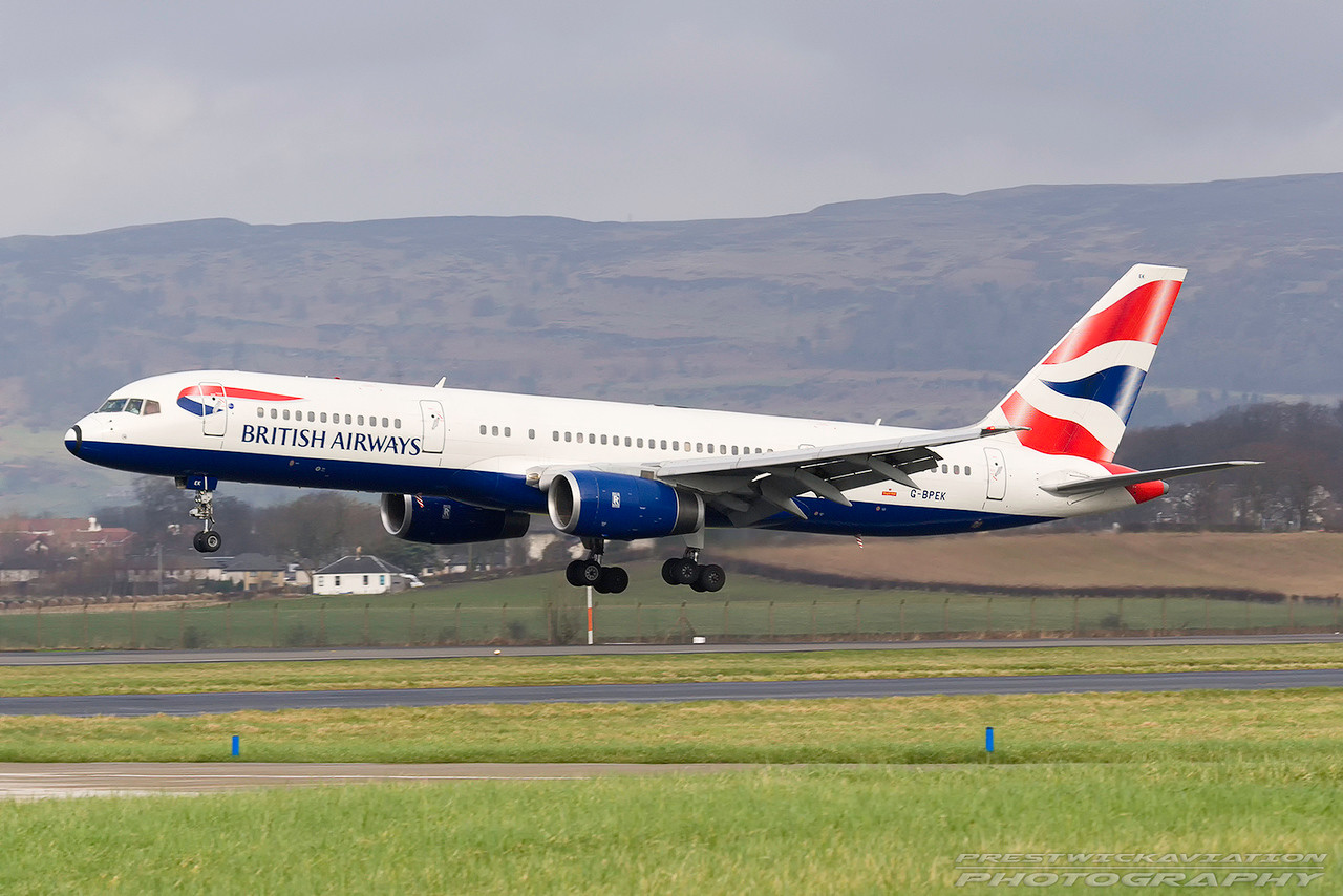 G-BPEK. Boeing 757-236. British Airways. Glasgow. 230207.