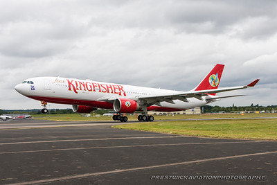 VT-VJL. Airbus A330-223. Kingfisher Airlines. Farnborough. 180708.
