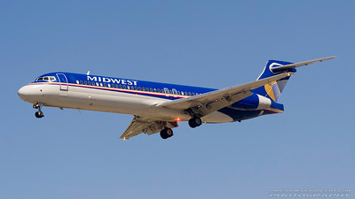 N914ME. Boeing 717-2BL. Midwest Airlines. Los Angeles. 240906.