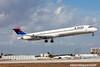 N986DL. McDonnell Douglas MD-88. Delta. Miami. 110209.