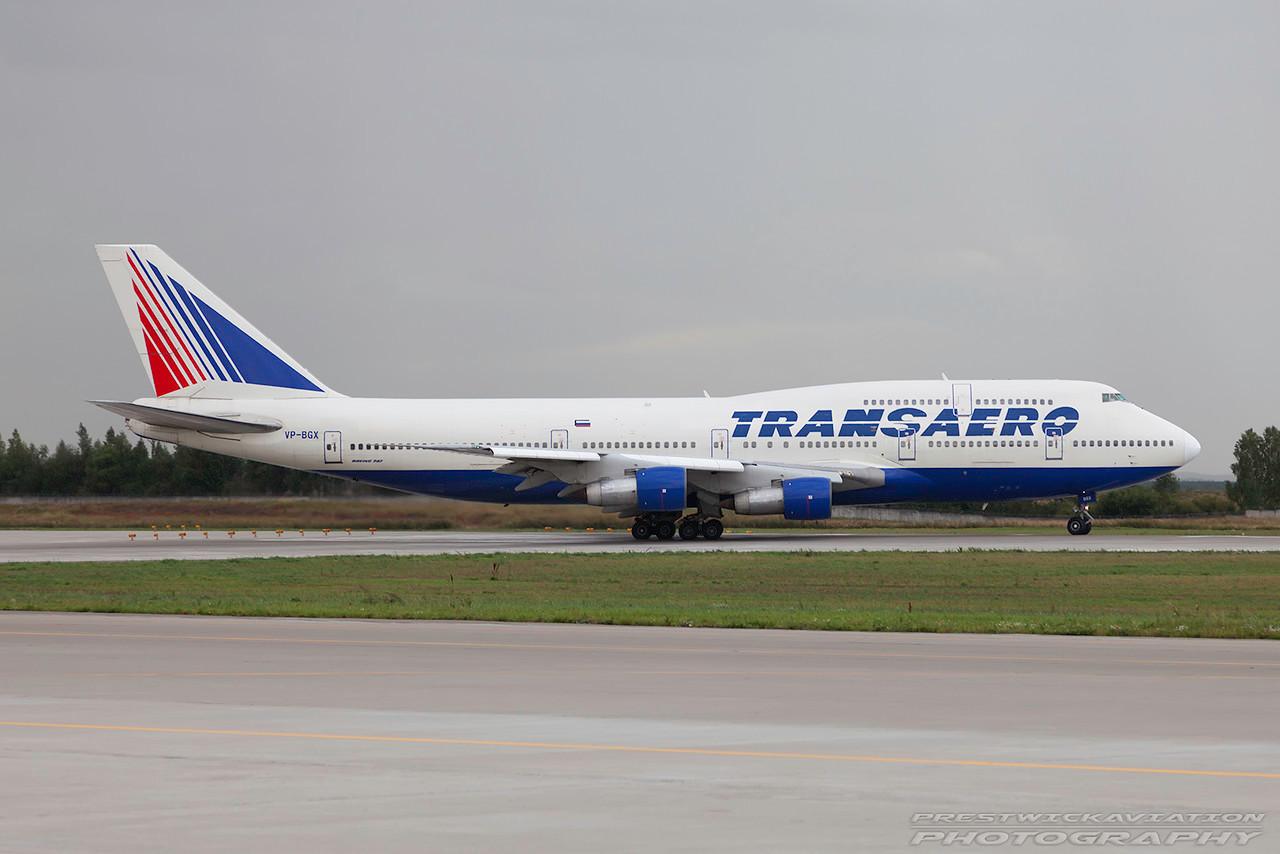 VP-BGX. Boeing 747-346. Transaero. Domodedovo. 200809.