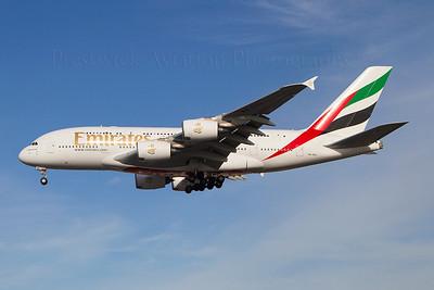 A6-EDL. Airbus A380-861. Emirates. Heathrow. 301010.
