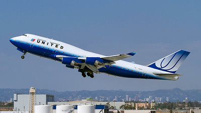 N181UA. Boeing 747-422. United Airlines. Los Angeles. 220910.