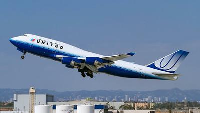 N181UA. Boeing 747-422. United Airlines. Los Angeles. 220910.